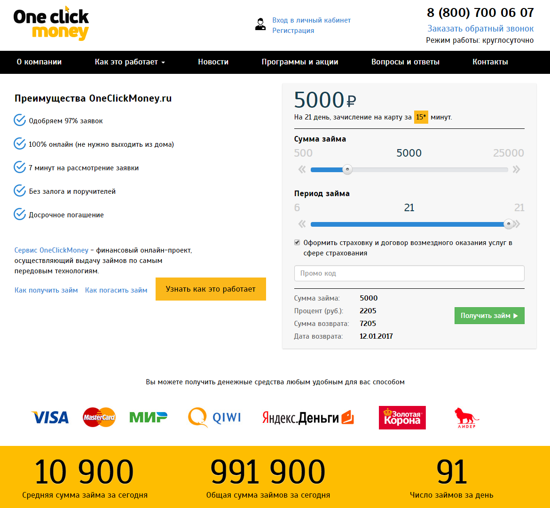 Займы онлайн заявка через контакт